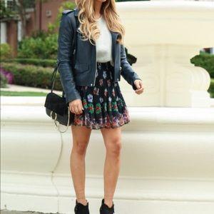 Chelsea Flower Intermix Linda Miniskirt Black Sz M